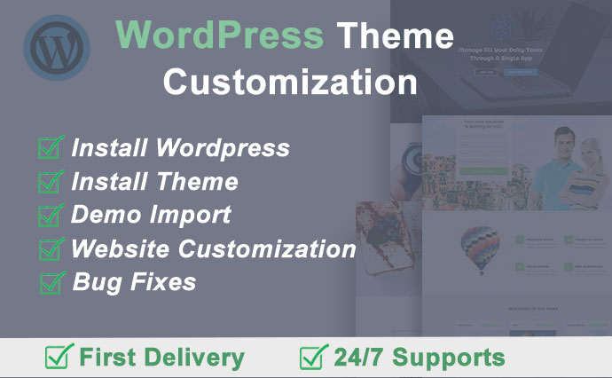 I will do any wordpress theme customization.