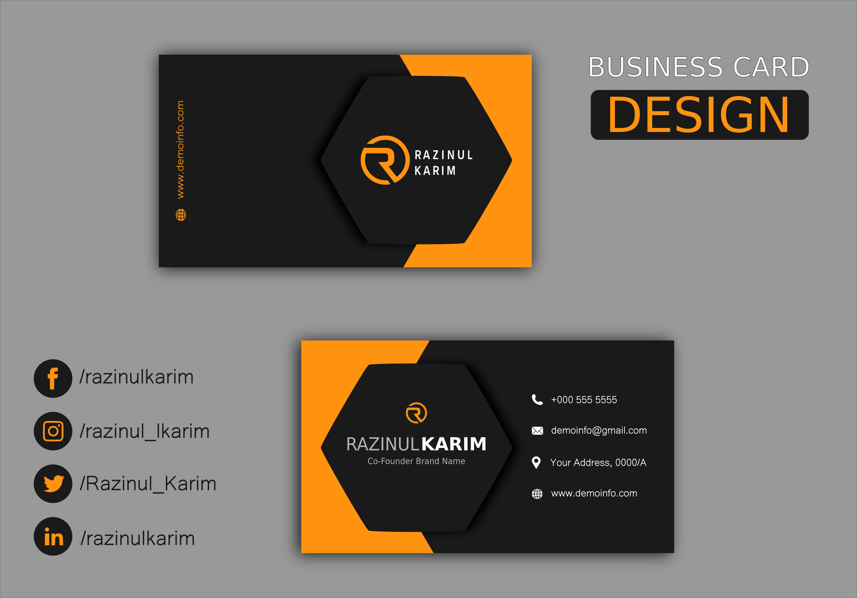 Professional Unique Premium Business Card within 12 hours
