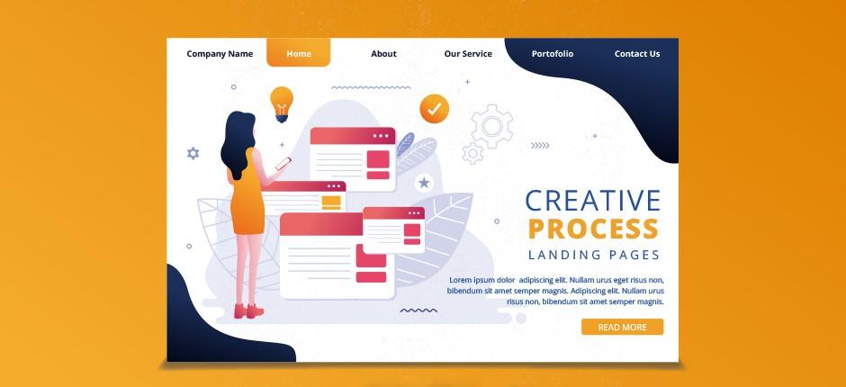 create modern landing page design