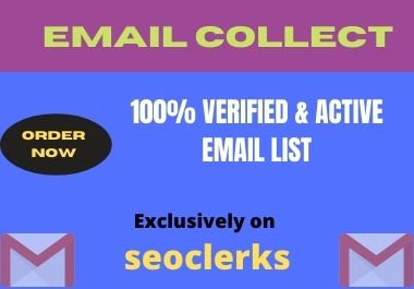 I will provide you 1 k Verified email list
