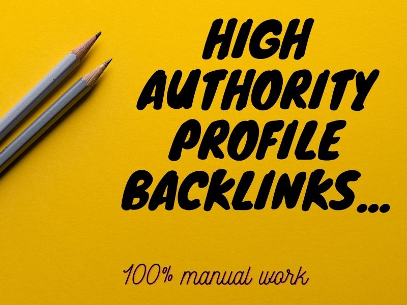 I will create 80 High Quality Profile backlinks with high DA site