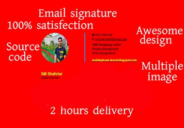 I will create Link able social icon and image with HTML EMAIL SIGNATURE