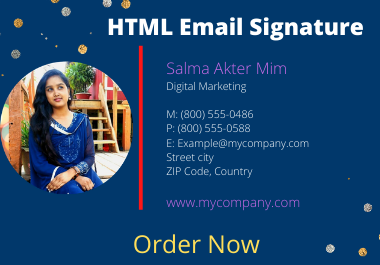 I will make professional HTML Clickable Email Signature Design