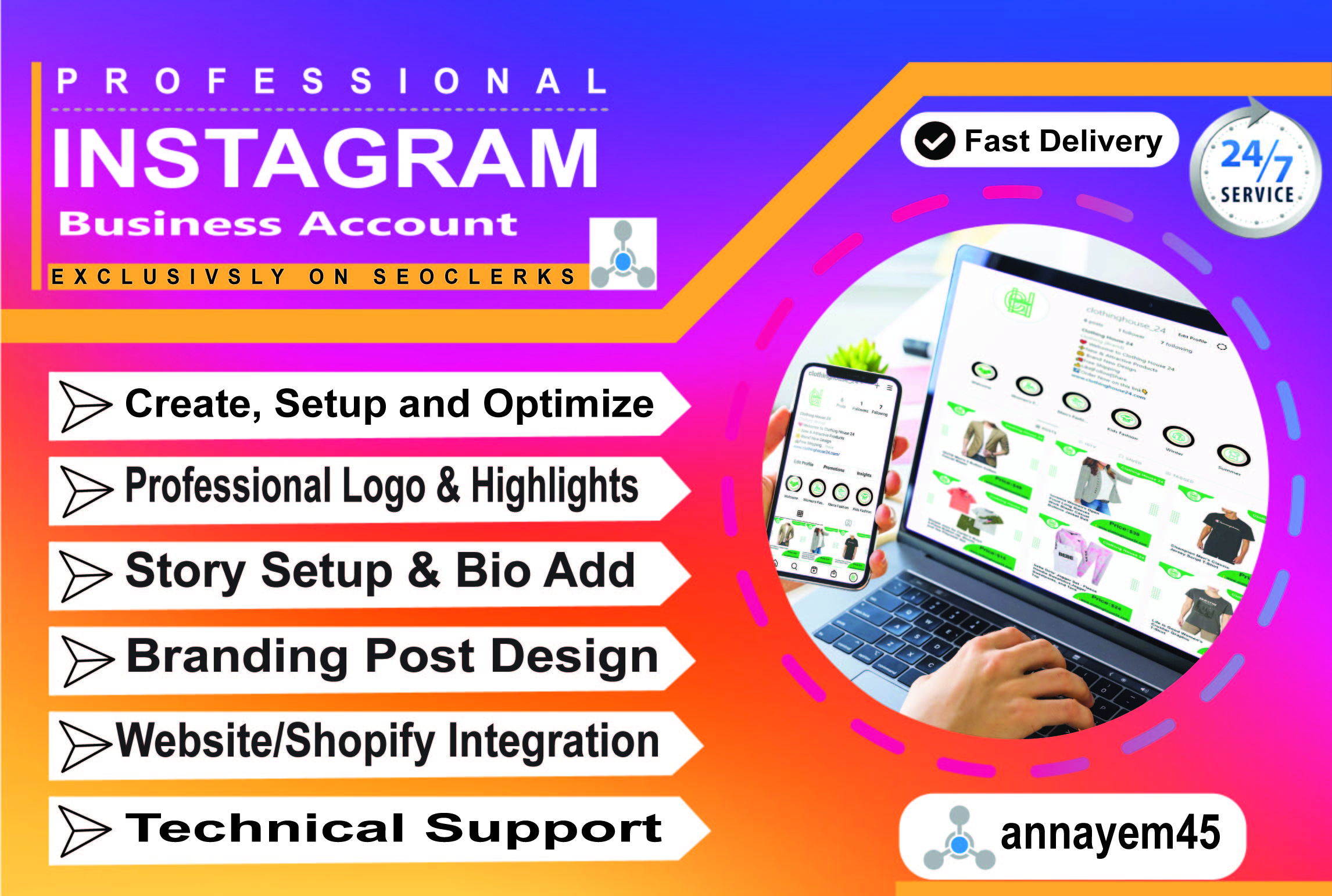 I will setup your professional instagram business account