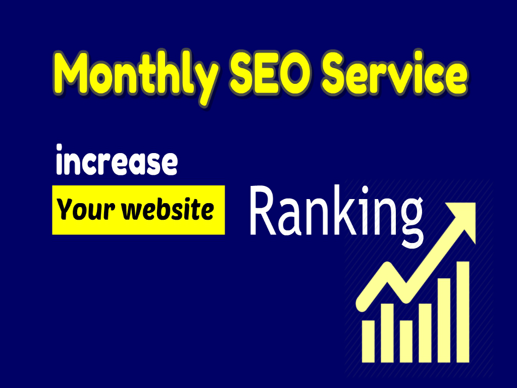 monthly SEO service higher google ranking contextual backlinks