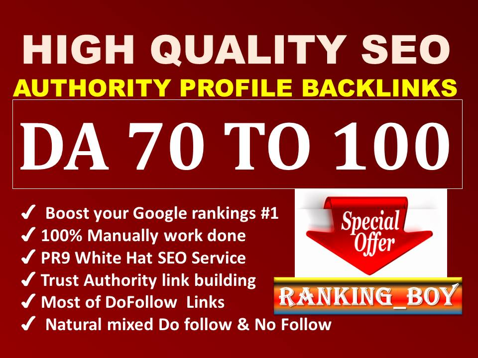 I will provide pr9 high authority profile backlinks seo