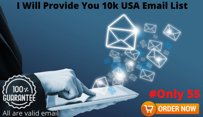 I Will Provide You 10k USA Email List