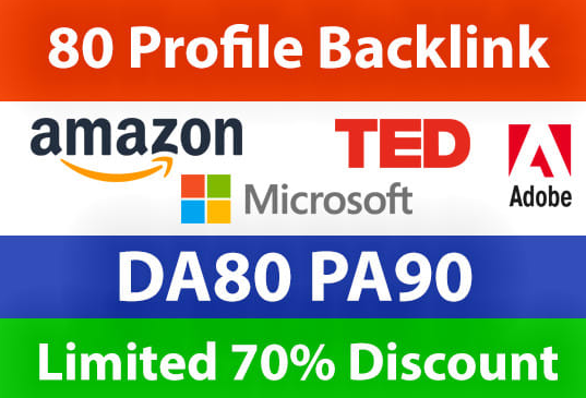BUY 2 GET 1 Do 80 High Domain Profile BackLink For Increase Your Google Ranking And Stay On Top Page