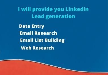 I will provide your Linkedin lead generation