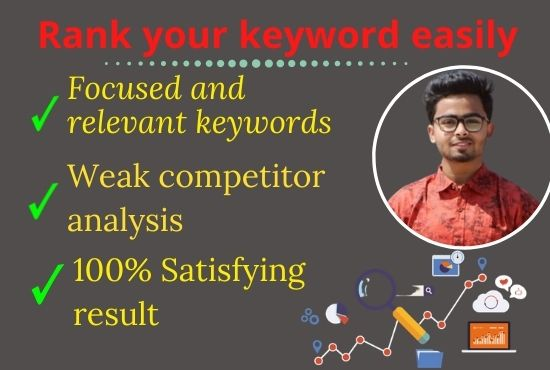 I will research low compitition keywords for your website