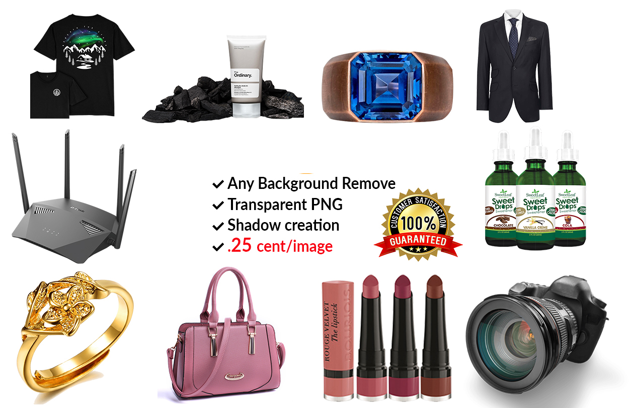 I will do amazon product photo editing,  retouch,  background remove