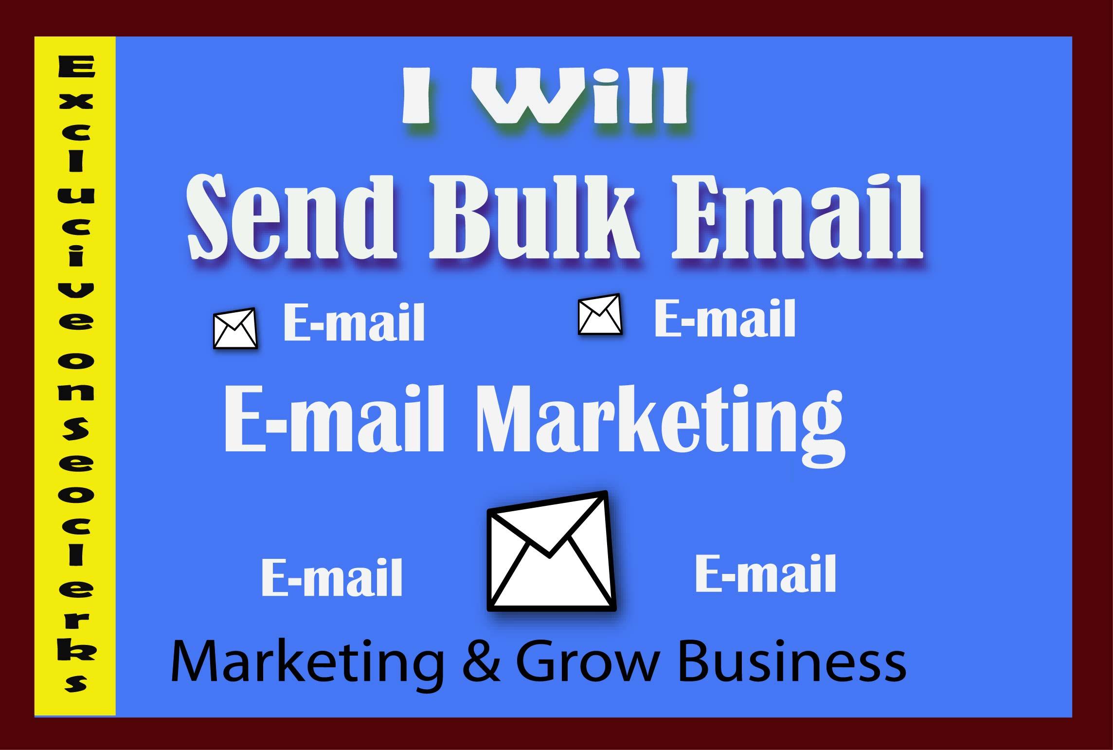 I will send 1k bulk emails,  email blast