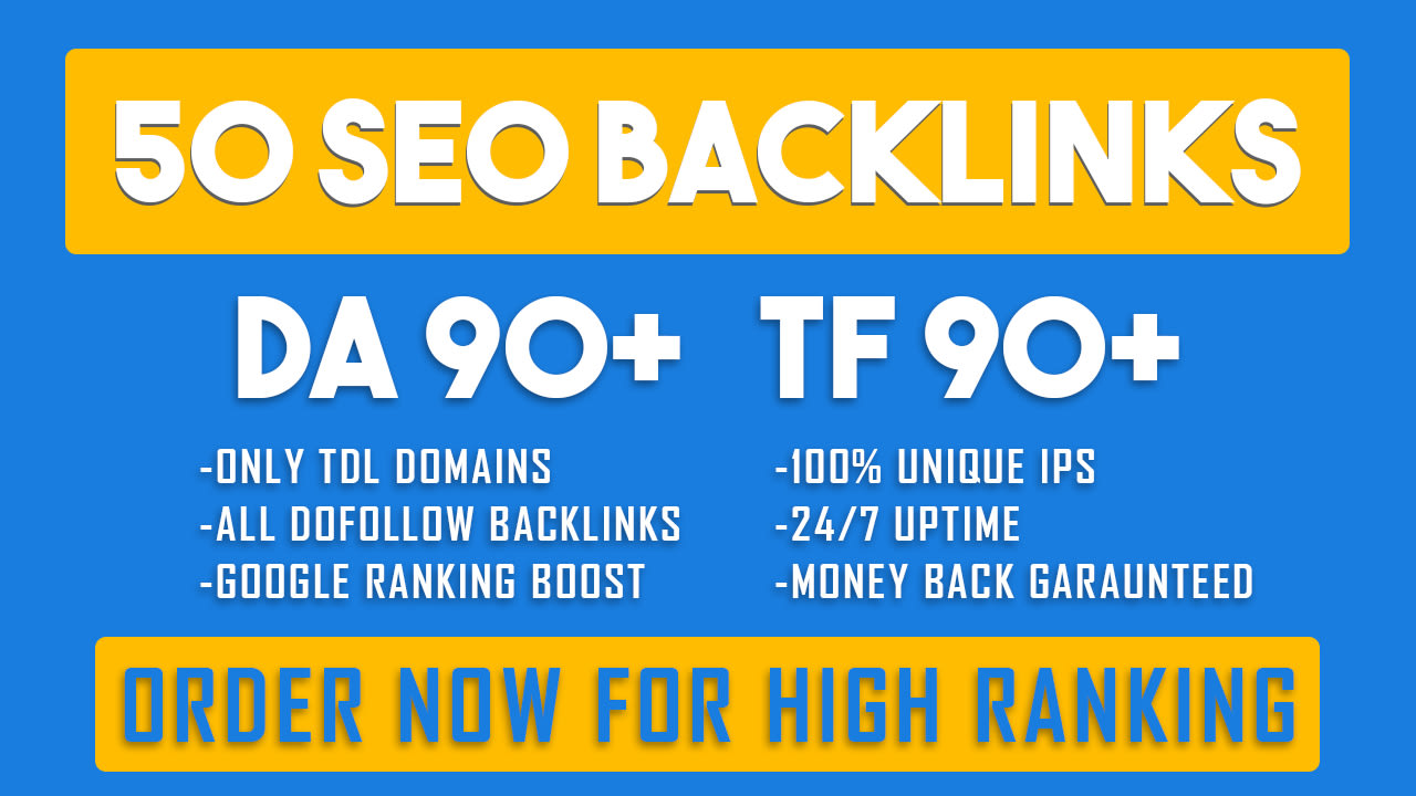 boost your google ranking with 50 high quality SEO backlinks
