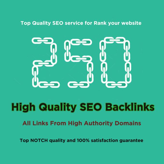250 HQ profile backlinks manually for website seo