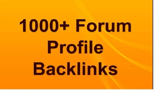 1000 HQ forum profiles backlinks To improve your website Google ranking