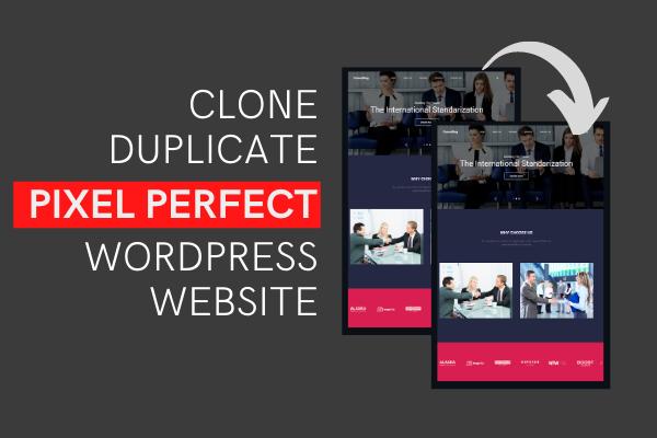 I will design redesign wordpress website or copy clone website and duplicate website