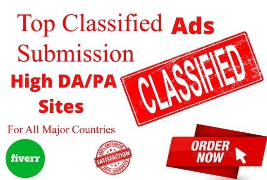 I will publish your ads in top classified ads posting sites