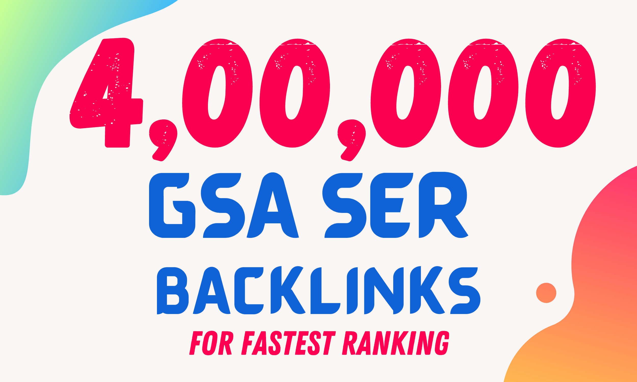 I will provide 400K GSA Ser Verified SEO backlinks and blog comment for your website ranking