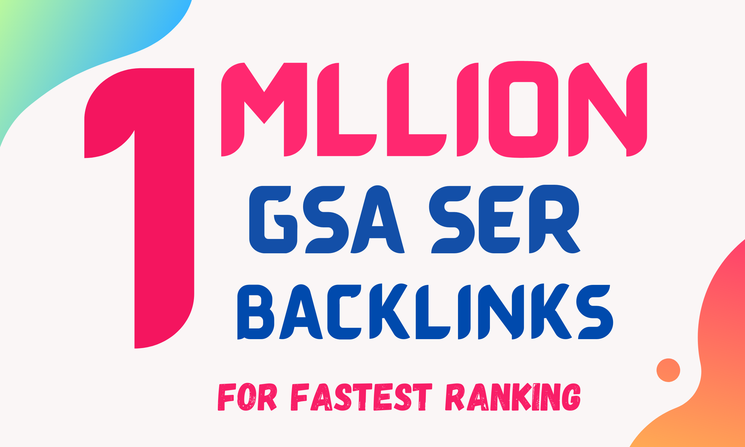 I will create 1Million GSA Ser Verified SEO backlinks for you website rank on google