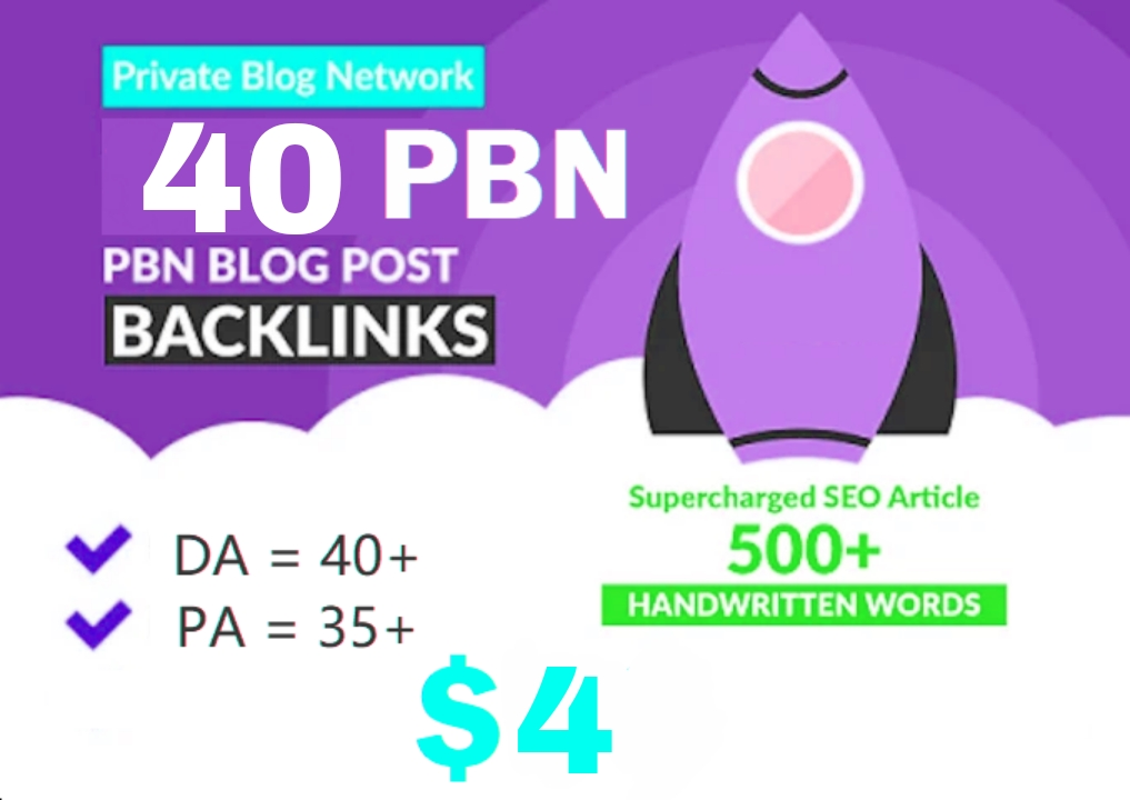 Production 40+ Backlink with 30+ Da 35+ PA DOFOLLOW and Homepage pbn with 40+ extraordinary websile