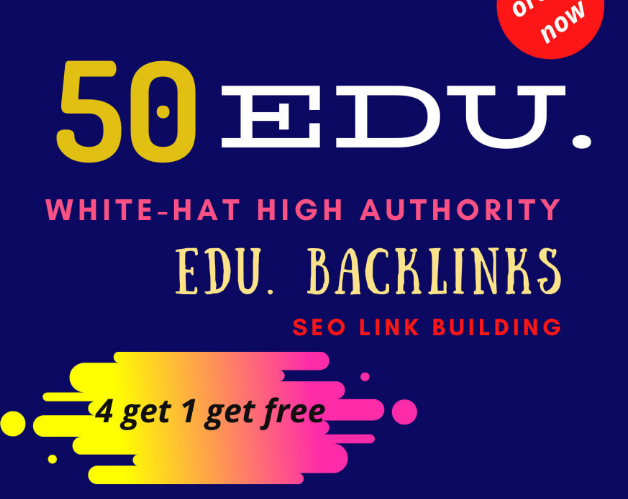 50 pr9, edu with high trust authority safe SEO link building backlinks