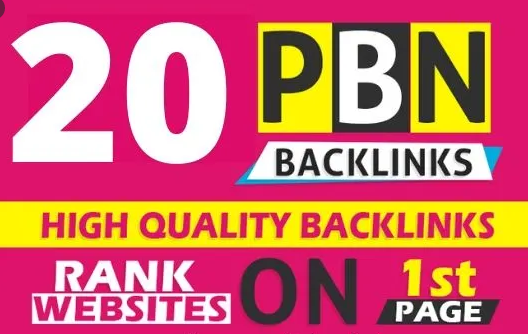 I will Create permanent 20 high DA PBN backlinks for rank your site