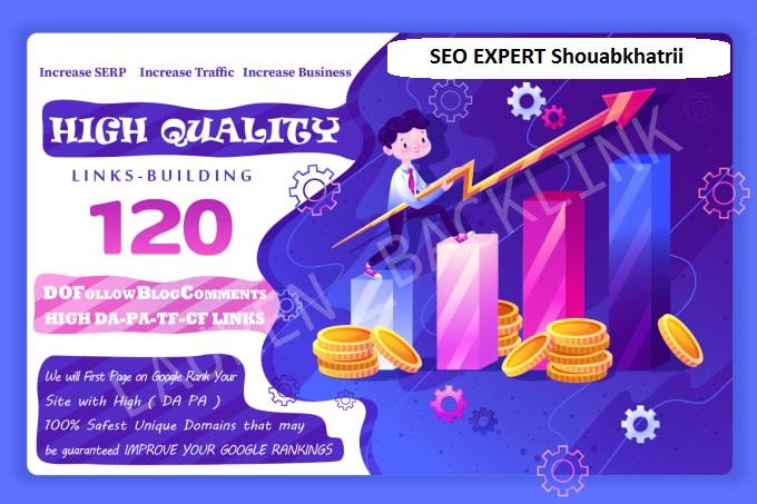 Do 120 Unqiue Domain Blog Comment PR10 Backlinks On High DA 80 plus Sites