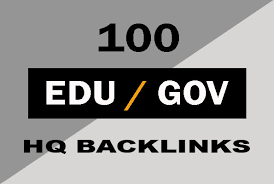 100 High Quality Edu and Gov Backlinks