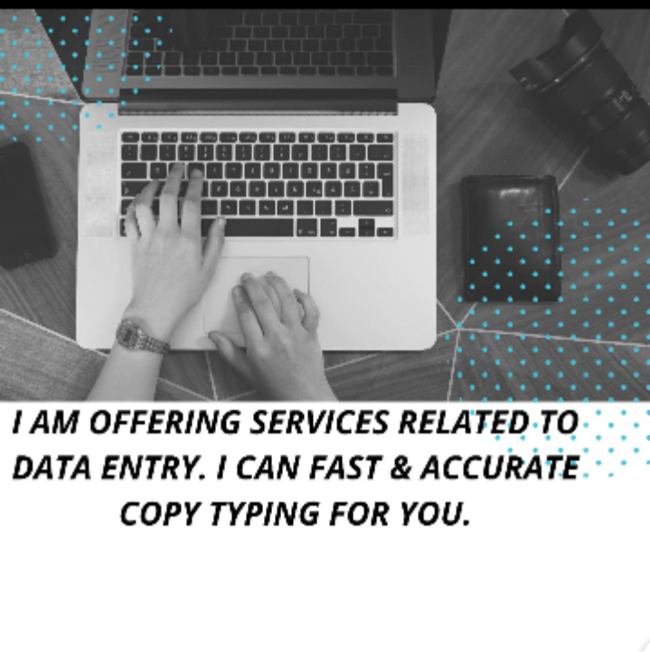 I will do professional,  accurate,  fast typing or data entry & copy paste work for you.