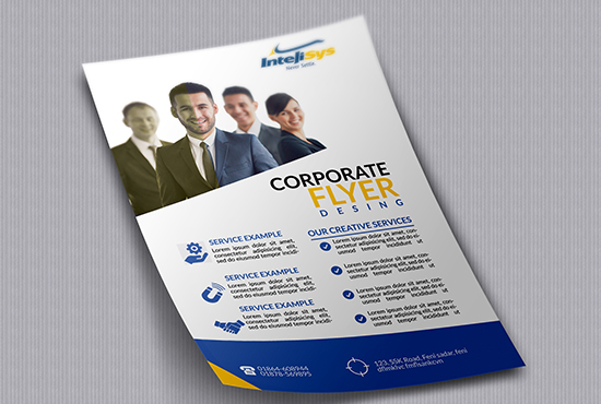design a professional corporate flyer