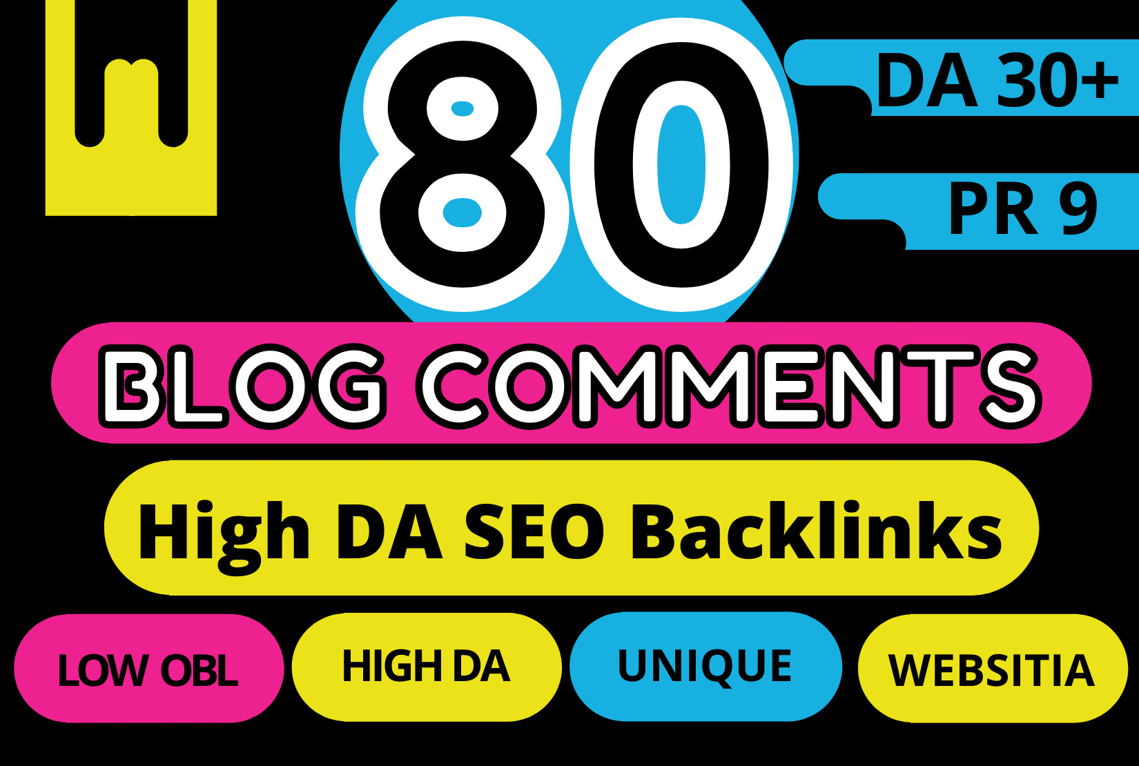 80 high da authority dofollow SEO backlinks blog comments