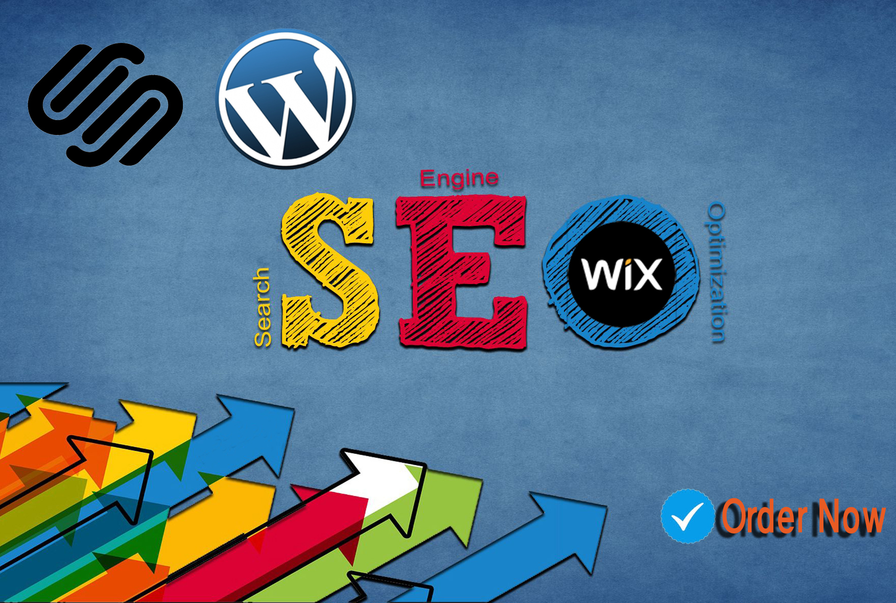 I will give SEO service for wix,  wordpress or squarespace websites