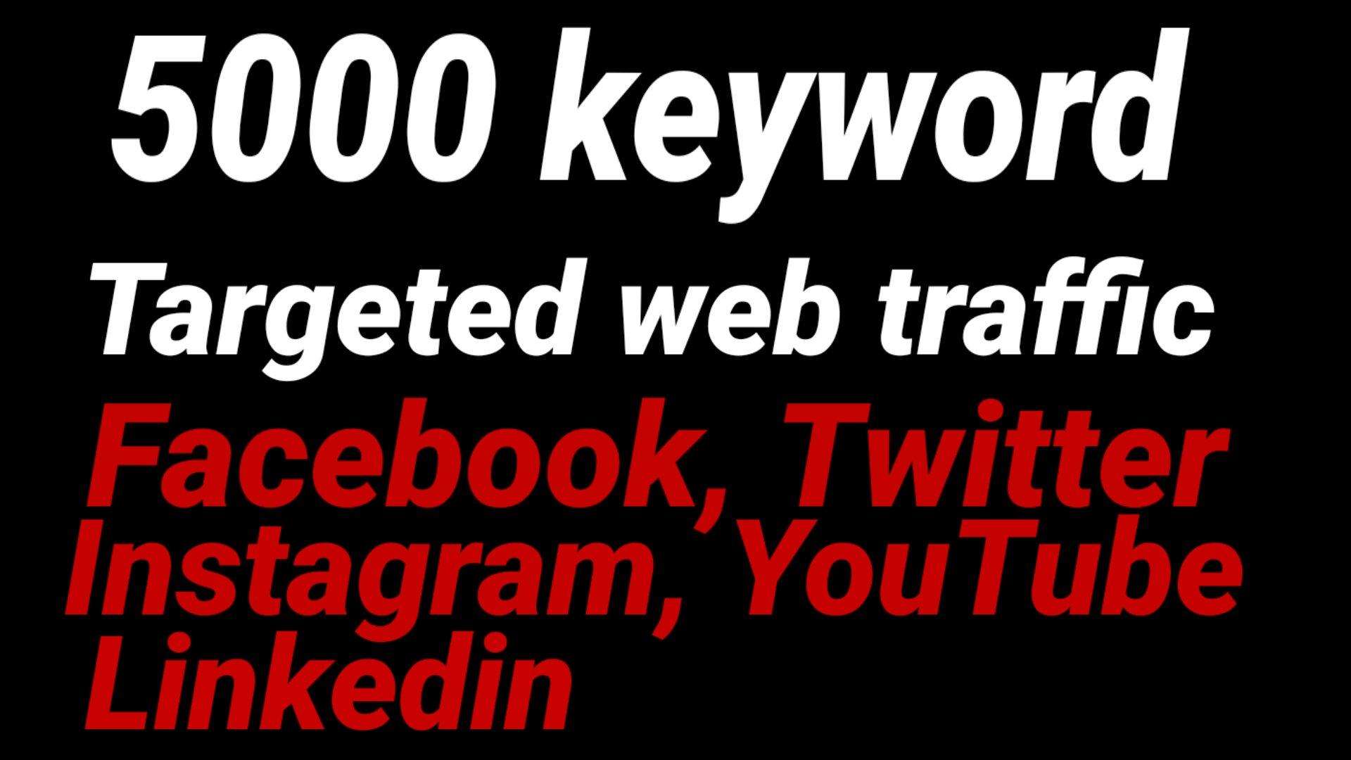 Real HQ 5000 human worldwide website traffic