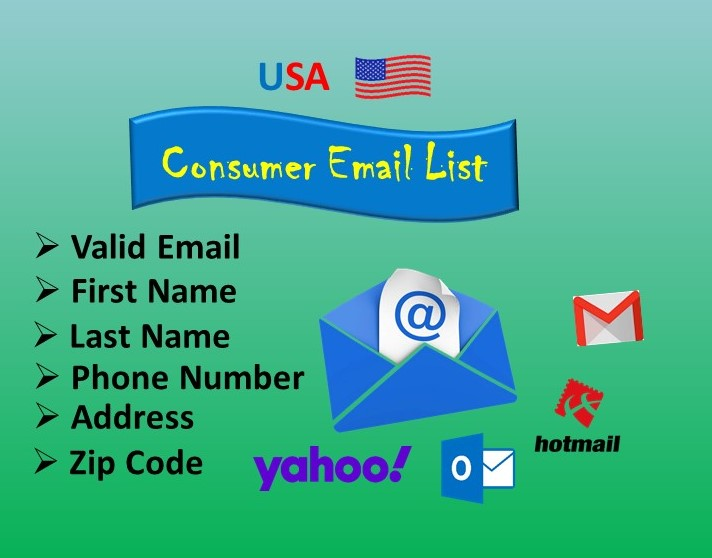 I will provide you 100 percent active and valid USA based consumer emails