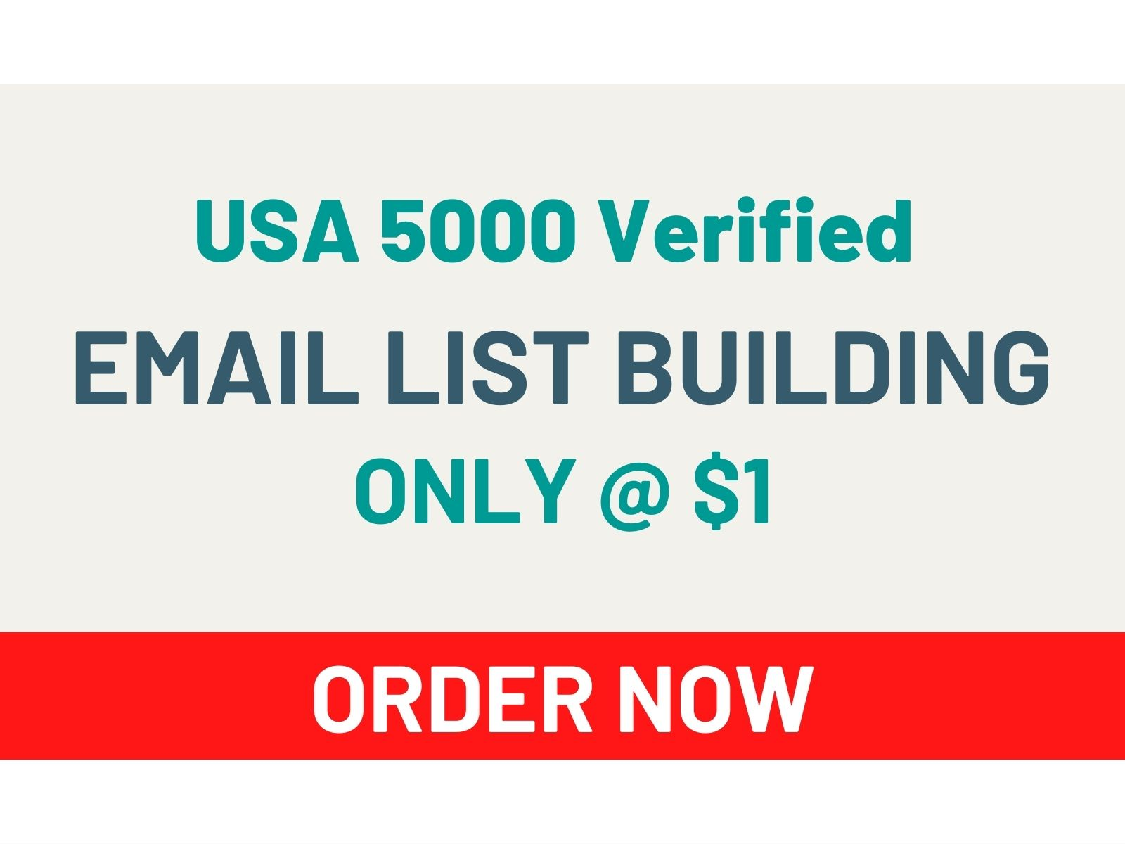 I Will Give You USA 5000 Verified Email List