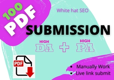 100 PDF Submission for white Hat SEO