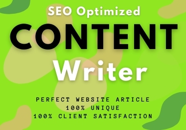 I will write 1000 words a content for your website and blogs
