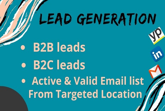 I will do 100 B2B Lead Generation with valid emails.