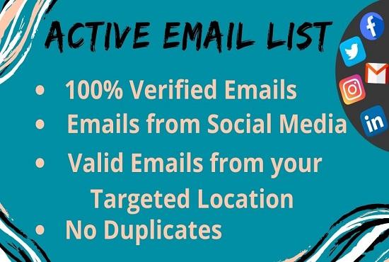 I Will Provide 100 Valid Email Address List