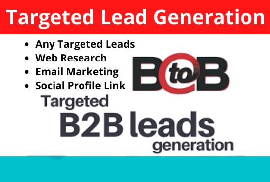 I will do 50 targeted company base linkedin lead generation