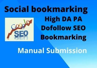 I will do 10 bookmarking on high DA PA Sites Manually