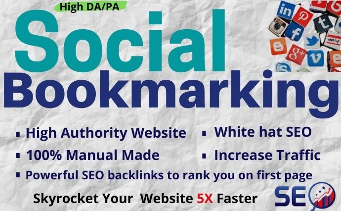 I will provide 30 high DA/PA social bookmarking for SEO