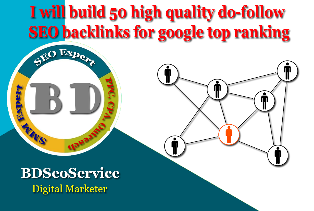 I will build 50 high quality do-follow SEO backlinks for google top ranking