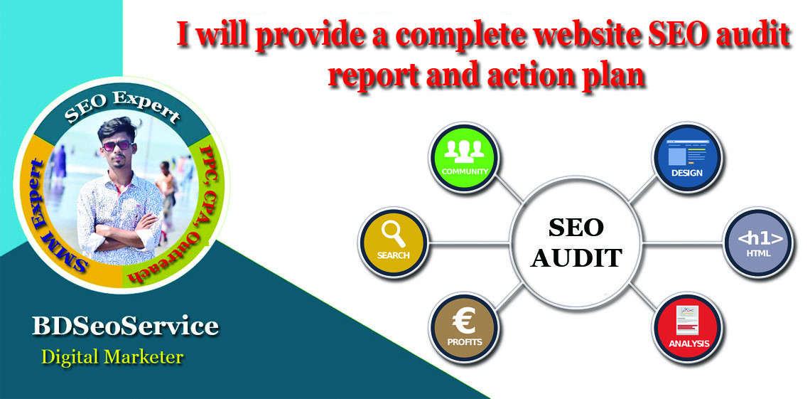 I will provide a complete website SEO audit report and fixing
