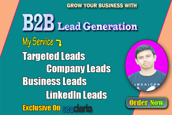 I will do B2B lead generation and web research for your targeted Business