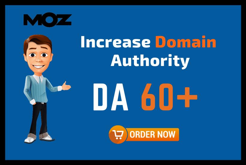 I will increase Domain Authority Moz DA 50 plus