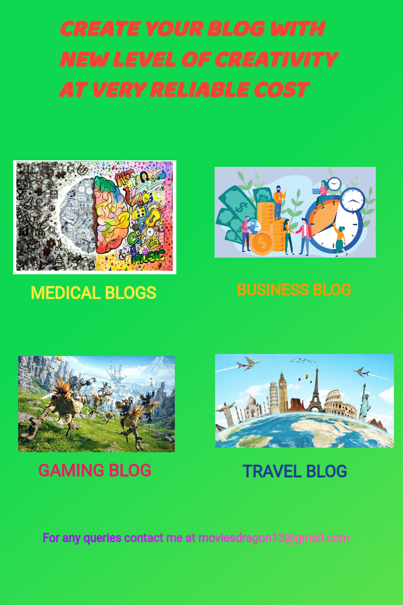 Change the opinion of the world of seeing blog with new level of creativity