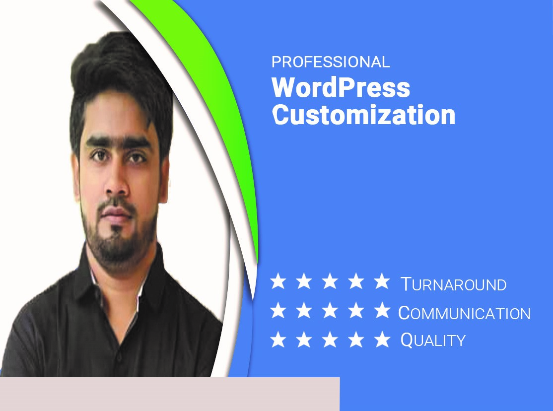 i will customize or redesign your wordpress website