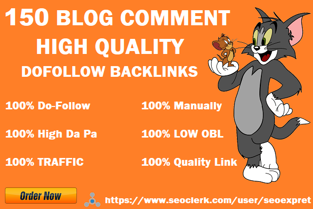I will provide 150 dofollow blog comments backlinks High DA PA & off page seo