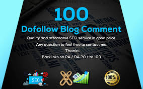 100 Dofollow blog comment backlinks High quality off page seo on High DA PA